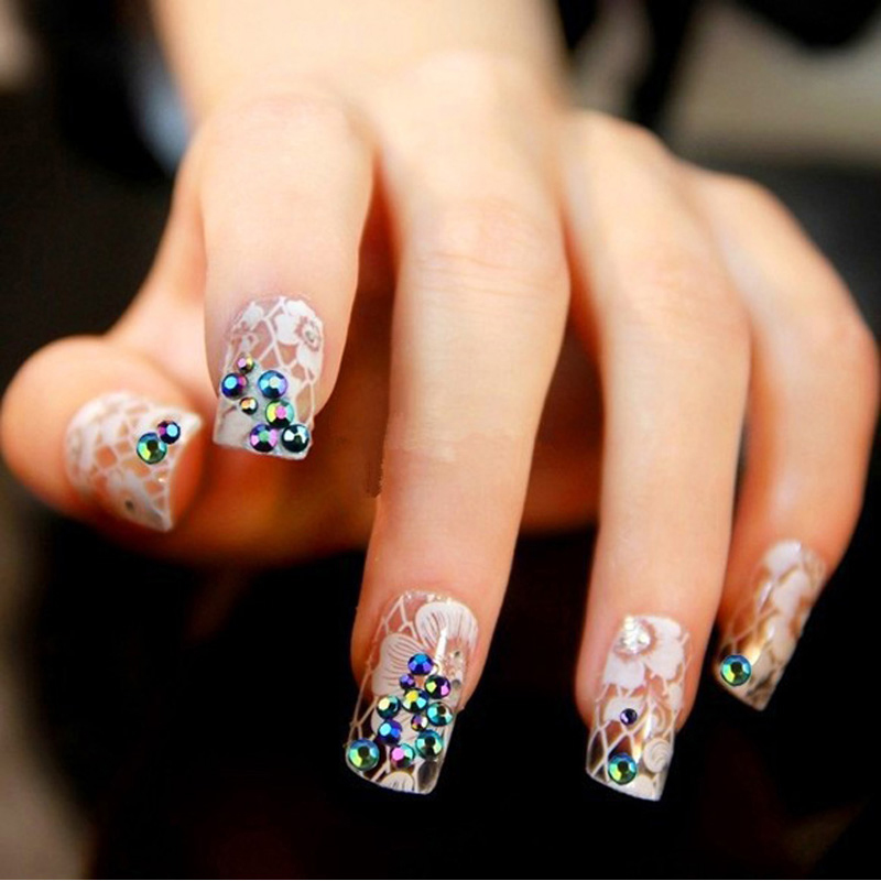 Nail Art With Glitter Tips – Papillon Day Spa