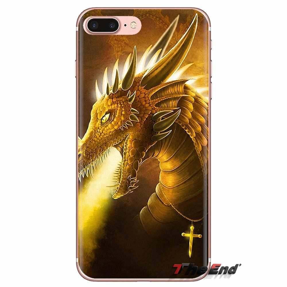 Suave transparente cubre los casos de dragón de dibujos animados para Xiaomi Mi3 Samsung A10 A30 A40 A50 A60 A70 Galaxy S2 nota 2 gran Core Prime