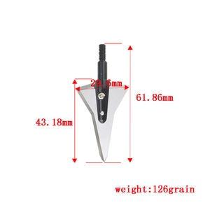 Image 5 - 6/12 piezas tiro con arco de grano 125 2 puntas de hoja fija afiladas puntas de flecha de caza tornillo para accesorios de práctica de disparo de flecha de arco