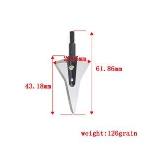 Image 5 - 6/12 sztuk 125 ziarna łucznictwo 2 ostre ostrze stałe broadheady polowanie groty strzał śruby w dla łuk strzałka fotografowania praktyki akcesoria