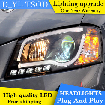 D_YL Car Styling for Audi A3 Headlights 2008-2012 for Audi A3 LED Headlight DRL Lens Double Beam H7 HID Xenon bi xenon lens