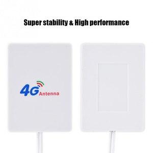 Image 4 - Zewnętrzny 28DBI biały kabel antenowy LTE złącze SMA 4G 3G wzmacniacz sygnału pionowa sieć WIFI szerokopasmowy TS 9 mobilny Router