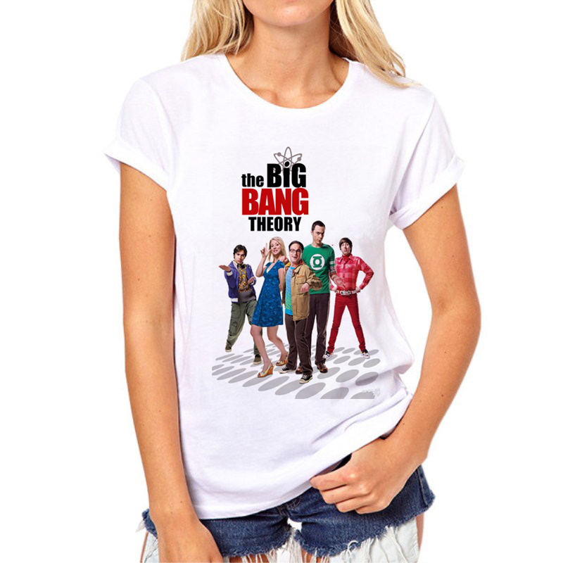 1ee5bd30f5253 The Big Bang Theory Hottest TV Series T Shirt Women Funny Characters White  And Comfortable Tops Short Sleeve Tshirt 87N-5