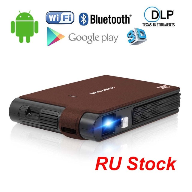 Big Sale CAIWEI Android WiFi Mini 3D DLP Projector Bluetooth Proyector Home Theater Business Backyard Movie Video Support 1080P HDMI