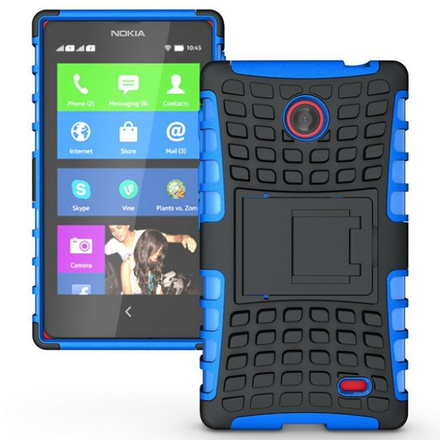 for Nokia X Case Nokia X Dual SIM Case Hybrid TPU Plastic Dual Cover Holder Shock Absorbance Case For Nokia X X+ 1045 A110 Case