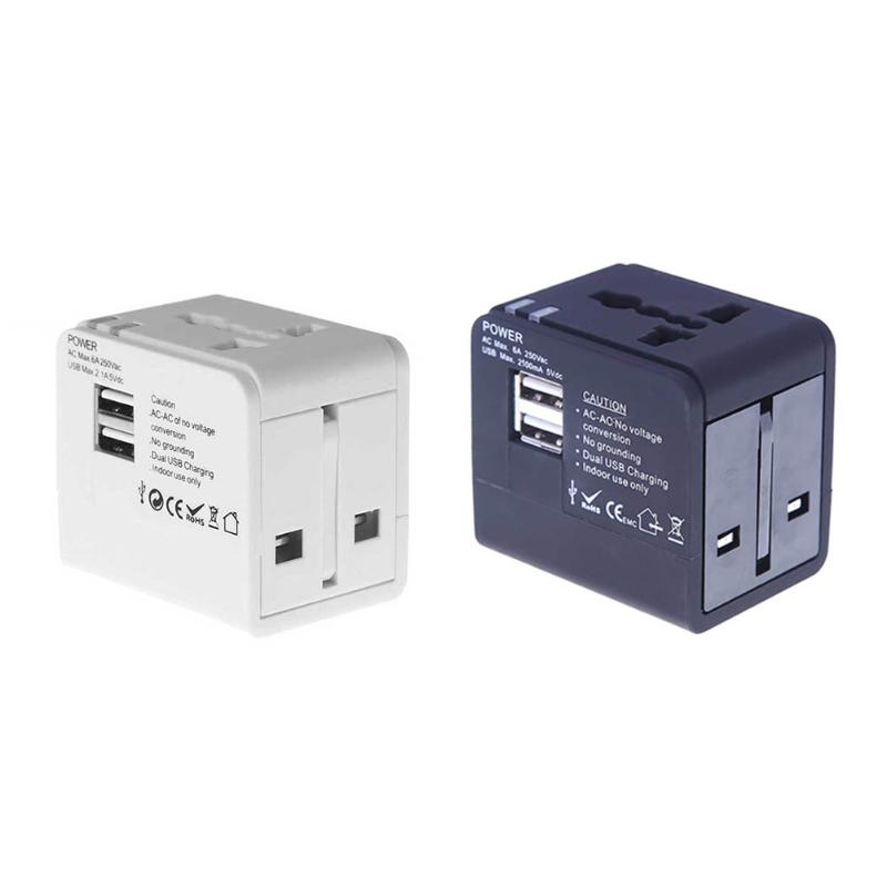 New Universal Power Adapter Electric Converter Multi-country Worldwide Charger Plug USB Travel Adapter Converter