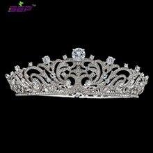 2017 New Real Austrian Crystals CZ Women Heart Love Tiara Crown Bridal Wedding Christmas Hair Jewelry Accessories SHA8741