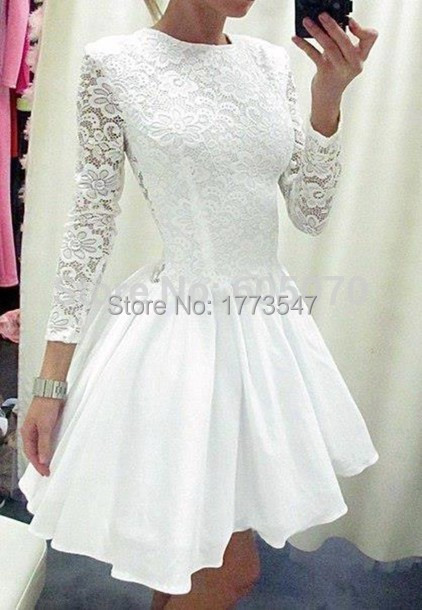 2015-Short-White-Lace-Cocktail-Dress-Party-Prom-Homecoming-Dress-with-Sleeves-See-through-vestidos-de.jpg