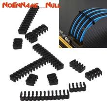 Networking tools 12 Pcs PP Kabel Kamm/Klemme/Clip/Kommode Für 2,5 3,0mm Kabel Schwarz 6/8/24 Pin dropshipping