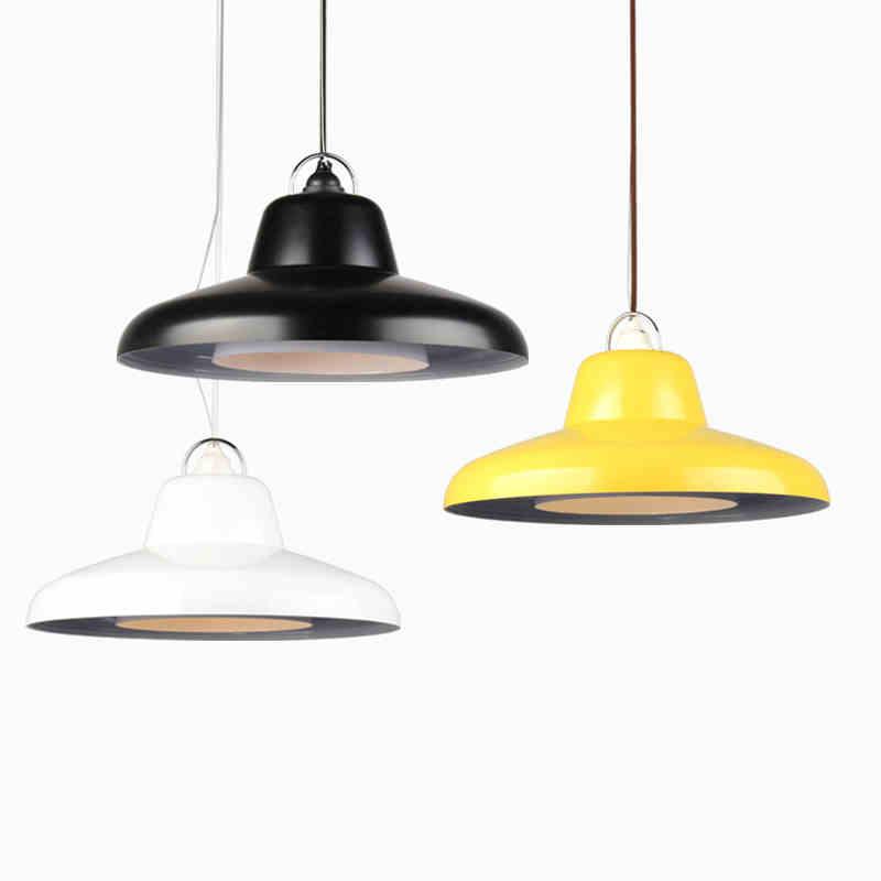 2019 new Designer pendant lights creative bar Taipei ou Hotel Cafe Restaurant thin flying saucer lighting(China)