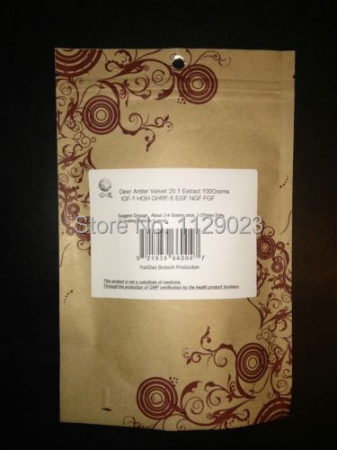 Details about 3.5 Oz. Deer Antler Velvet Horn 20:1 Extract Powder IGF-1 GHRF-6 EGF NGF FGF Etc