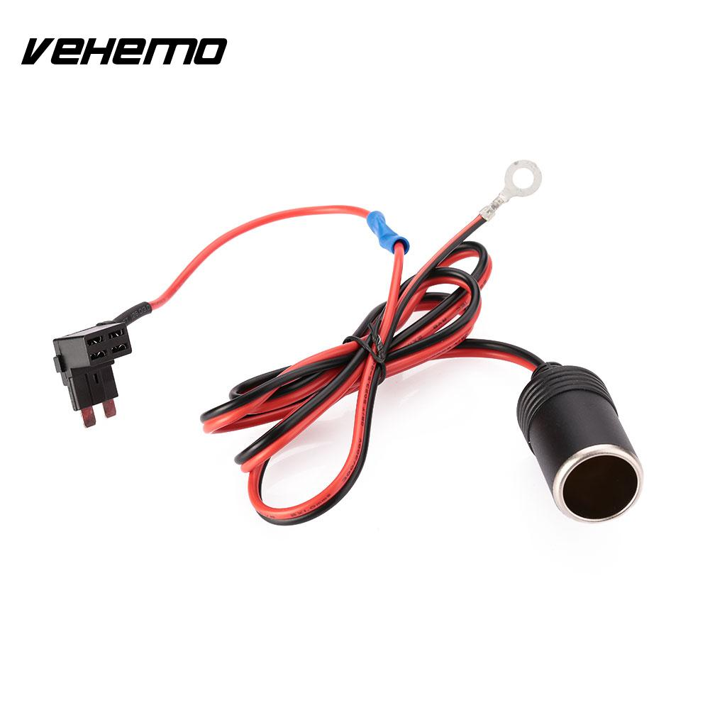 1M 1.5mm DC12V Car Cigarette Cigar Lighter Female Socket Cable ATC Fuse  Holder