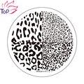Леопард Сетки Ногтей Штамп Шаблон 3D Pattern Мода Польский Печать Тиснения Пластины Красоты Трафареты Для Ногтей JH235