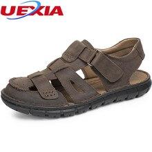 UEIXA Summer Casual Men Shoes Leather Zapatos Beach Men Sandals Shoes 2017 Comfortable Cool Sandalias Outdoor Walking Male Shoes