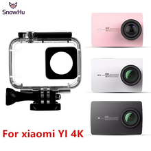 SnowHu 45m Diving Waterproof Case Waterproof Housing For Xiaomi Xiaoyi YI Action Camera II 2  Xiaomi YI 4K Sports Camera 2 GP300 international xiaomi yi 4k plus action camera 2 19 ambarella h2 for sony imx377 12mp 155 degree 4k sports camera touchscreen