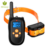 Mrosaa Electric Remote Shock Vibrate Dog Collar Anti Barking Devices Trainer Rechargeble Waterproof Pet Training Collars