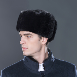 LTGFUR бомбер мужские шапки теплая норковая меховая шапка бомбер ушанка Авиатор зимние шапки с ушками шапка-ушанка для мужчин NZD-01