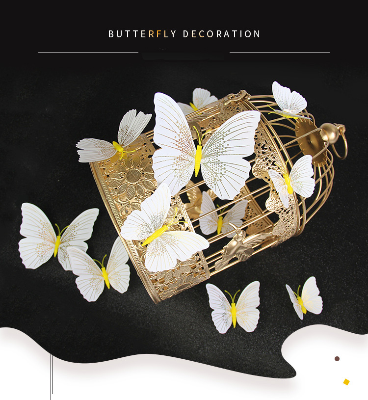 12Pcs/set Ambilight 3D Butterfly Wall Sticker Butterflies home decoration room decor Fridge Magnet wall stickers for wedding HTB1iP5nLQzoK1RjSZFlq6yi4VXa9