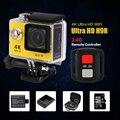ЭКЕН H9R 4 К WiFi Действий камеры с 2.4 Г Пульт Дистанционного Управления Ультра HD 2.0 дюймов Шлем Cam go водонепроницаемый спорт камеры go pro yi sj
