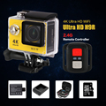 EKEN H9R 4 K cámara de Acción WiFi con 2.4G de Control Remoto Ultra HD 2.0 pulgadas helmet cam ir impermeabilizan la cámara go pro yi sj