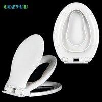 Double layer Toilet seat children adults Dual use toilet lid Elongated V shape Silent slow closure Width 35 37cm Length 44 47cm