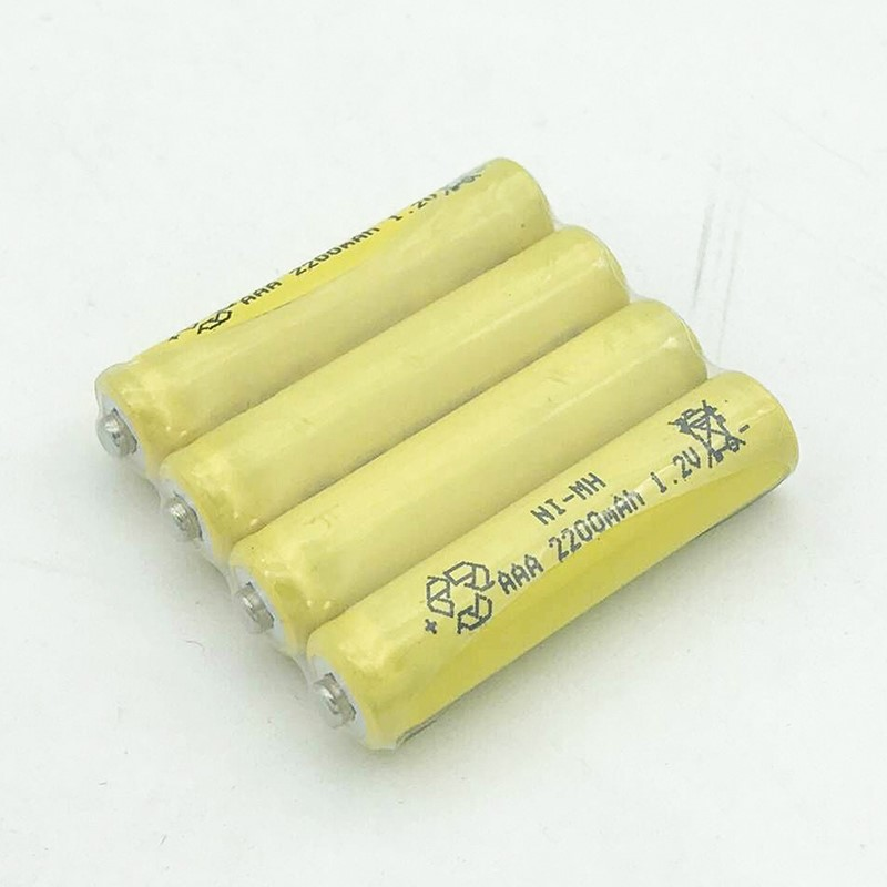 JNKXIXIX 2 шт. 2200 мАч Ni-MH аккумуляторы В 1,2 в перезаряжаемые AAA батарея экологичный подходит для большинства электронных товары