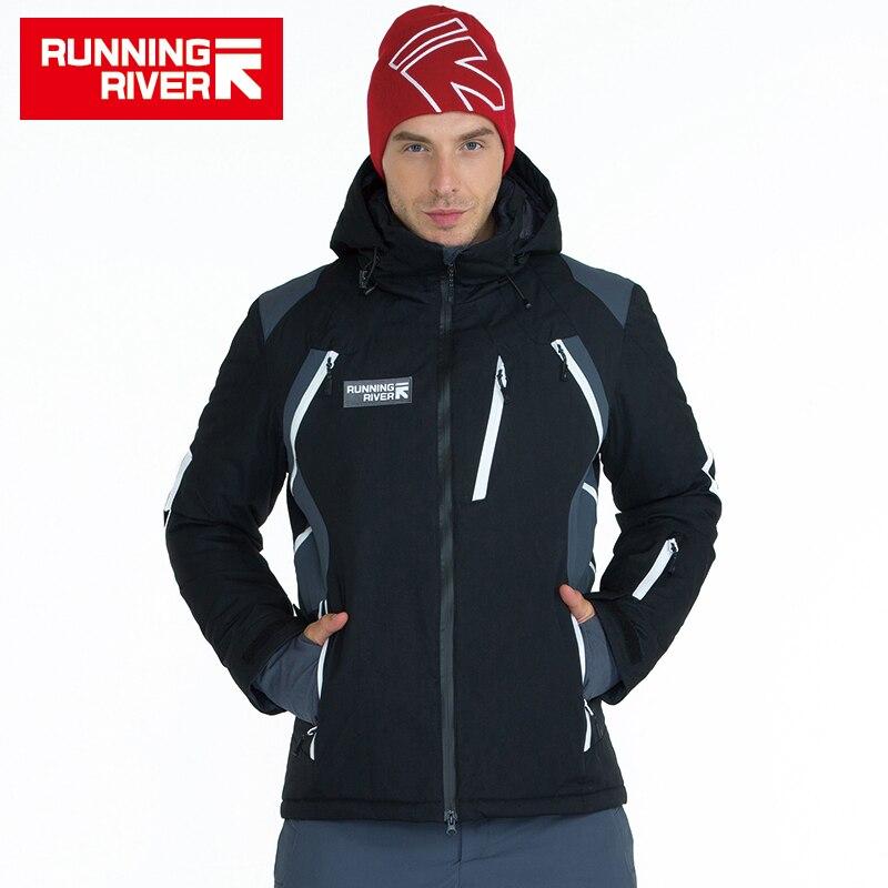 Chaqueta de esquí de invierno para hombre de alta calidad de marca de Río para correr 3 colores 6 tamaños ropa de deporte caliente al aire libre para hombre esquí chaquetas # A5036
