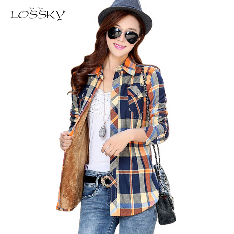 Sunny Fekeha Whale Embroidery Women Plaid Shirts Casual Long Sleeve Cotton Female Tops School Check Blue Pink Blouses Women Autumn Easy To Lubricate Women's Clothing