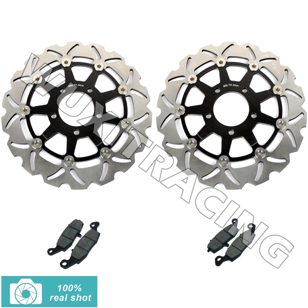 Front Brake Discs Rotors Pads for Suzuki GSF 650 S Bandit ABS 05 06 SV 650 / S K3 K4 K5 K6 K7 K8 K9 03-10 GSX 750 F 04 05 06