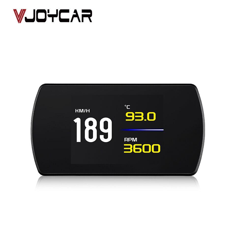 VJOYCAR Automobile On-board Computer Car Digital Speedometer GPS OBD2 Hud OBD Driving Display Mileage Odometer Temperature Gauge цены онлайн