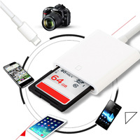 SD Card Reader адаптер Камера Комплект для подключения OTG кабель передачи данных для iPhone для Камера для ноутбука телефон Аксессуары