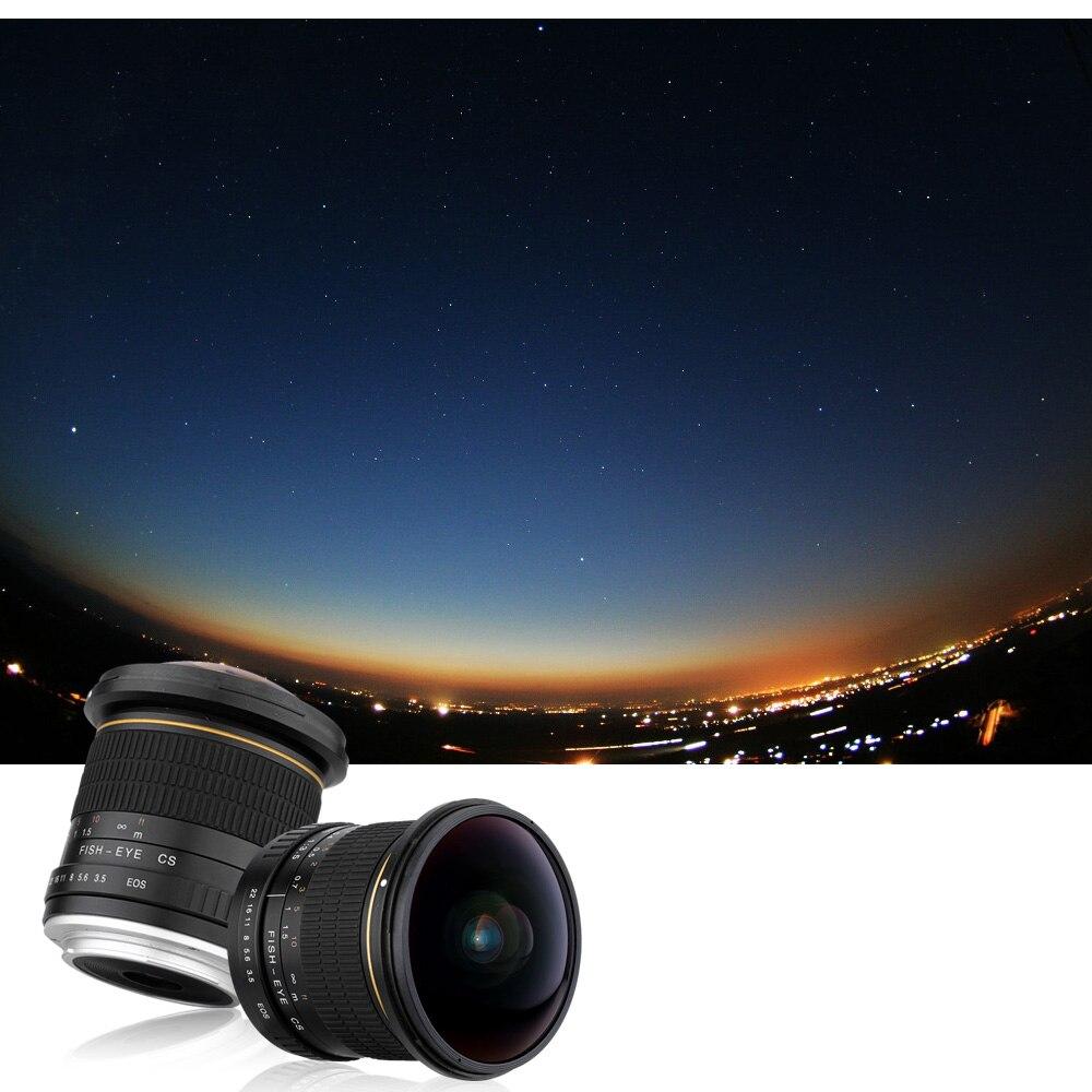 Lightdow 8mm F/3,5 Ultra Weitwinkel Fisheye Objektiv für Canon Halb rahmen Kameras 1200D 760D 750D 700D 750D 600D 70D 60D 77D 80D