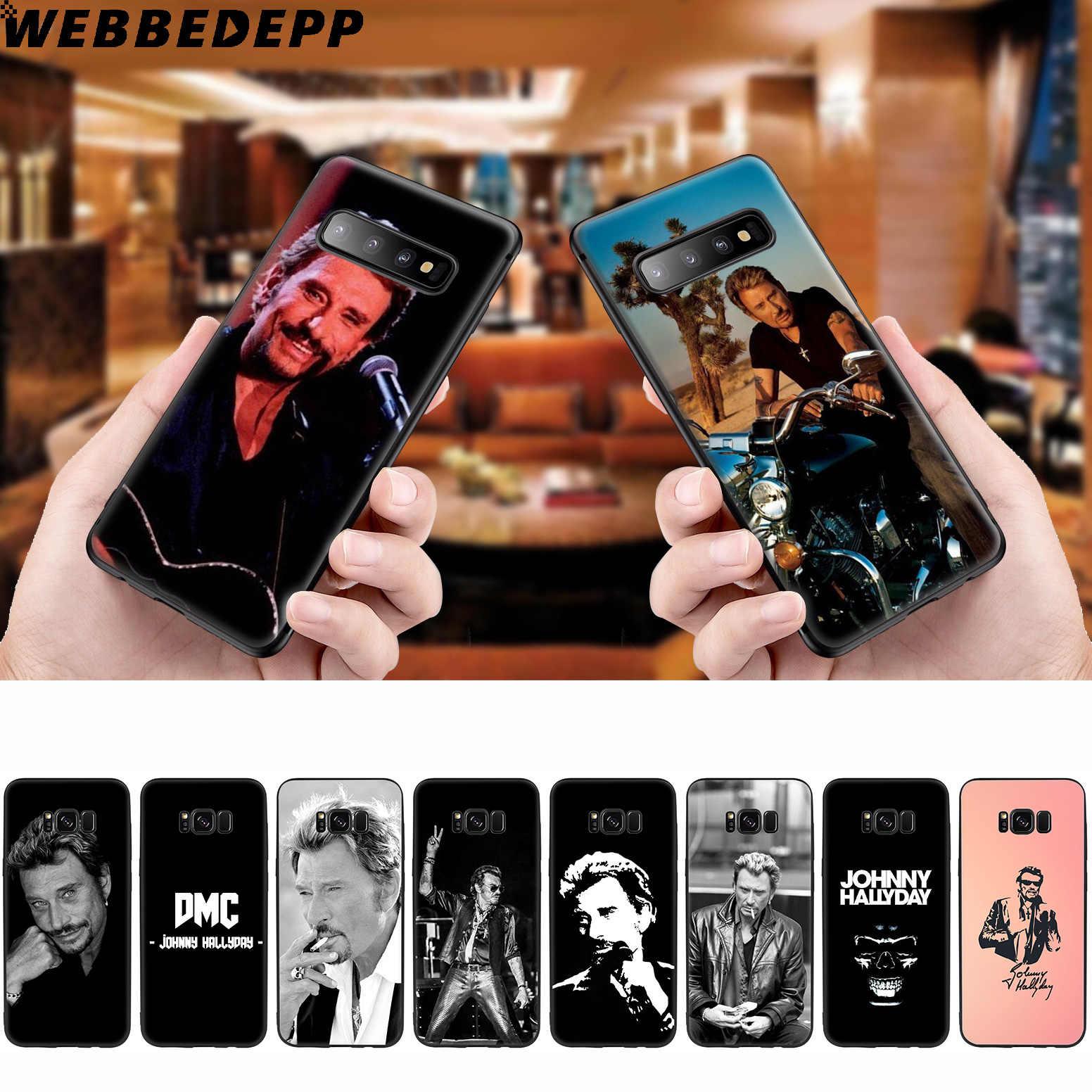 WEBBEDEPP ジョニー Hallyday サムスンギャラクシー S10 S10e S9 S8 プラス S7 S6 エッジ S9 プラス & J6 2018 注 10 プラス 9 8