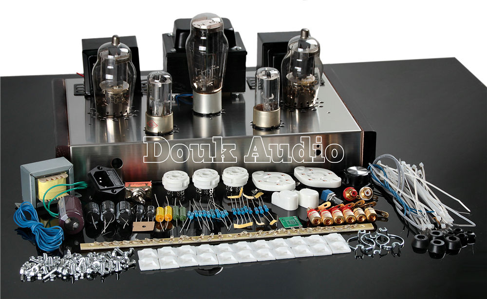 Douk Audio Latest 6N8P+Fu25 Valve Tube Amplifier HiFi Single-Ended Class A Integrated Power Amp Pure Handmade