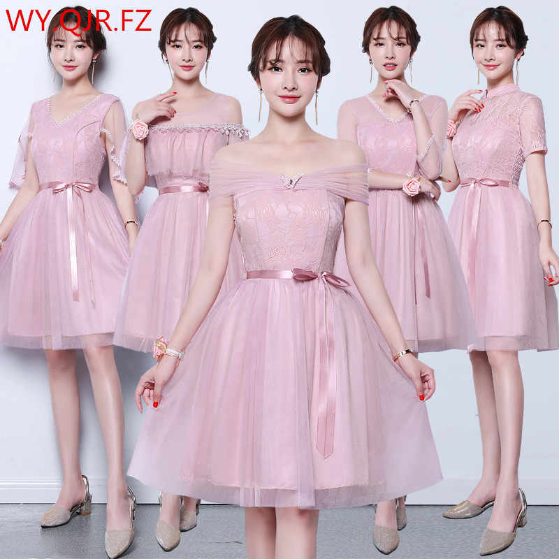 150f07431141 ZX-V8 Korean new cameo brown Bridesmaid Dresses short wedding party dress  prom gown