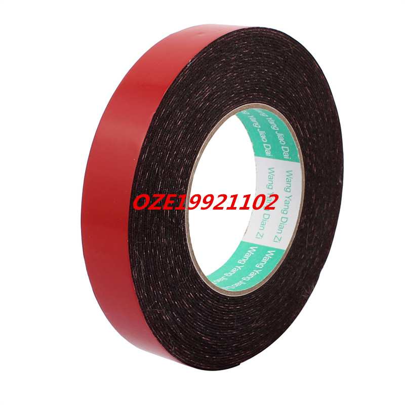 25mm x 1mm Double Sided Self Adhesive Shockproof Sponge Foam Tape 10M Length 2pcs 2 5x 1cm single sided self adhesive shockproof sponge foam tape 2m length
