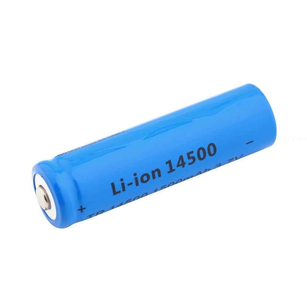 مصباح ليد جيب الشعلة صغيرة الأصلي 3.7 V المهنية 1500 mAh القياسية 600 mAh 14500 قابلة للشحن بطارية ليثيوم أيون الأزرق