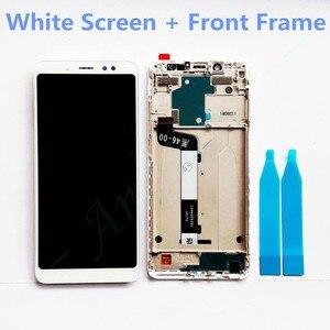 Image 2 - جديد 2160x1080 شاشة عرض LCD تجميع إطار LCD ل Xiaomi Redmi Note 5 غطاء بطارية الهاتف استبدال أجزاء