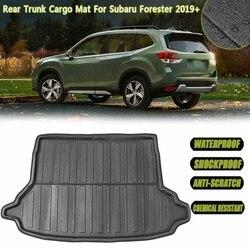 Mata do wyłożenia podłogi bagażnika bagażnika samochodu taca bagażnika mata podłogowa Liner dywan taca dla Subaru Forester 2019 + wodoodporna Car Styling Auto mata podłogowa część na