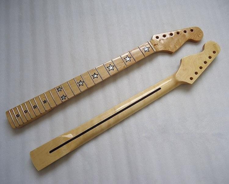 Disado 22 Frette incrustation érable étoiles Guitare Électrique Cou Écrou Guitare accessoires Pièces instrument de musique