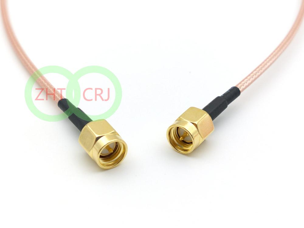 500pcs RG316 SMA male plug TO SMA male plug RF Pigtail Coax Jumper