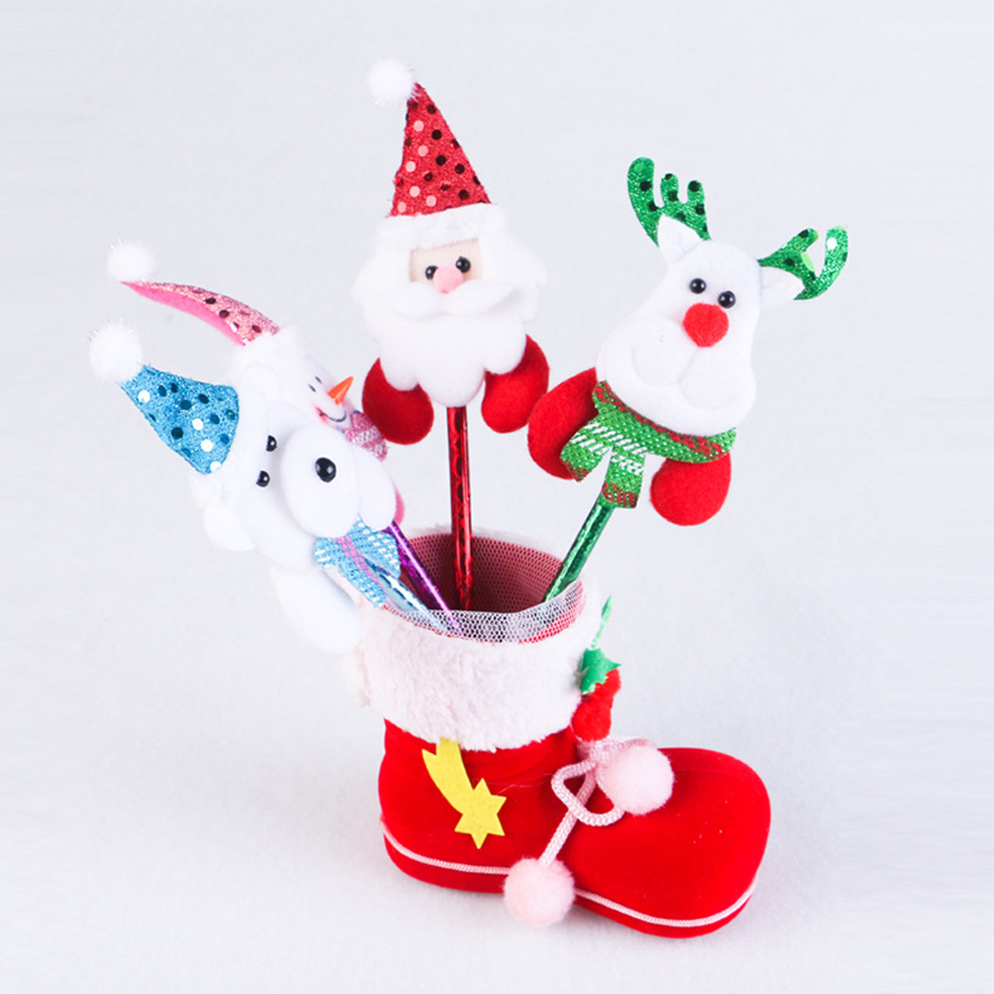 Top Sale 4 size Christmas decorations gifts candy boots for childrens christmas gift bags festive party Christmas socks