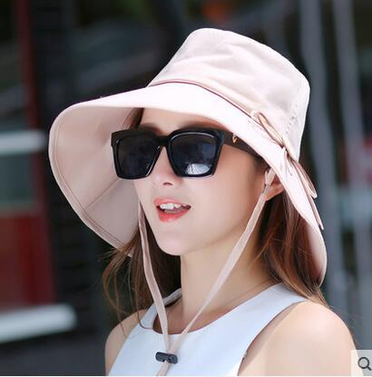 11fb24e3c2e  Dexing Elegant sun hats Foldable Butterfly knot wide brim Floppy Summer  hats for women Outdoor UV Protection