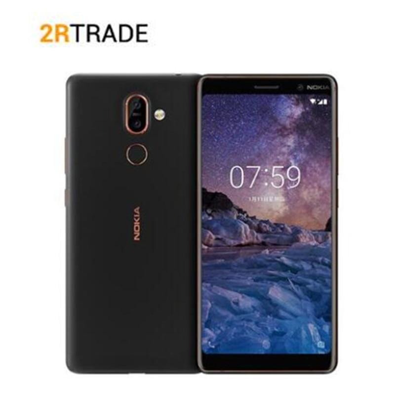 Nokia 7 Plus 4 GB/6 GB ROM 64G téléphone portable 6.0 ''FHD 2160*1080 Snapdragon 660 Octa core téléphone portable 3800 mAh 4G LTE NFC Smartphone