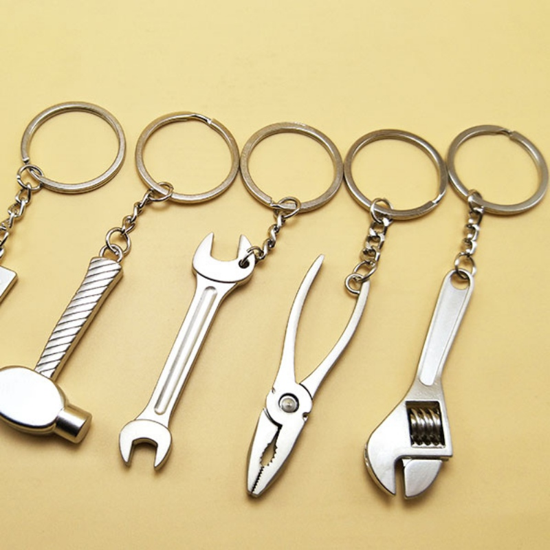 Mini Workshop Tools Holder Car Accessories Simulation Keyfob Tools Car Wrench Keychain Spanner Keyring Lovely Gift