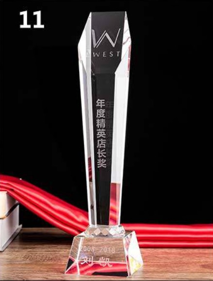 Customized 30cm K9 Crystal trophy cup Encourage Souvenir Awards Gift