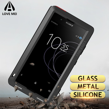 Aşk Mei Metal Kasa Sony Xperia XZ3 XZ2 XZ1 Kompakt XA2 Ultra 1 10 Artı XZ Premium Zırh Darbeye Dayanıklı telefon kılıfı Sağlam Kapak