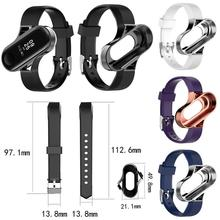 High Quality Silicone Replacement Wristband Watch Band Strap For Xiaomi 4/3 MiBand 4 Mi 3 Smart Bracelet