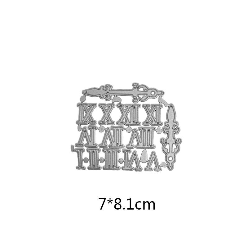7 8 1cm Roman numerals new Metal Cutting Dies for card DIY Scrapbooking Embossing stencil Paper Craft Album template Dies in Cutting Dies from Home Garden