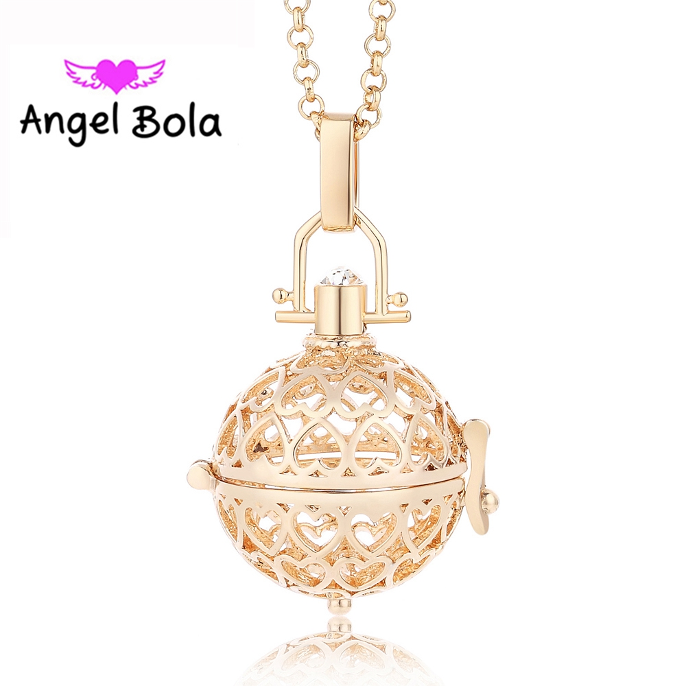 Luck Heart Angel Ball Sound Bola Yiwu Maternity Jewelry Metal Interchangeable Mom Pendant Women Necklace (20.5mm)L061